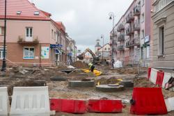 Remonty ulic w centrum miasta. N/z skrzyżowanie ulic Giełczyńskiej i Dwornej.
