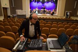 Nagrywanie koncertu sylwestrowego Filharmonii Kameralnej.