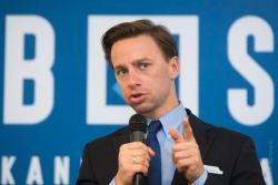 Podczas kampanii prezydenckiej do Łomży przyjechał kandydat Konfederacji na Prezydenta Polski Krzysztof Bosak.