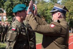 I Święto Wojska Polskiego 18. Pułku Logistycznego w Łomży, który w 2020 roku stał się Łomżyński.