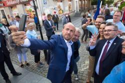 Borys Budka, szef Platformy Obywatelskiej przyjechał do Łomży tym razem zachęcać na głosowanie na Rafała Trzaskowskiego.