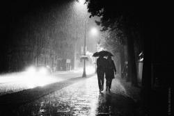 Deszcz na ul. Giełczyńskiej w Łomży