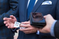 Kampania wyborcza przed eurowyborami. Jacek Protas kandydat z 10 miejsca listy Koalicji Europejskiej w Łomży.