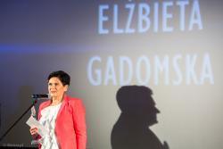 Elżbieta Gadomska podczas gali Aniołów Biznesu.