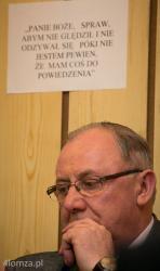 Łomża, prezydent Mieczysław Czerniawski w biurze Solidarności.