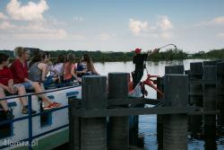 W dniu otwarcia bulwarów i portu Łomża bezpłatnie można było popływać statkiem n/z cumowanie statku Bona