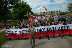 Przez Polskę, ale i przez Łomżę przeszły marsze poparcia dla TV Trwam.