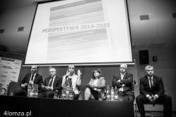 """Elżbieta Bieńkowska - wicepremier, minister infrastruktury i rozwoju była głównym gościem na zorganizowanej w Łomży przez działaczy Platformy Obywatelskiej """"debacie"""" POdlaskie 2020""""."""