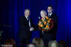 Wizyta poparcia przed II turą wyborów prezydenckich prezesa PIS Jarosława Kaczyńskiego dla Mariusza Chrzanowskiego. Spotkanie prowadził poseł Lech Antoni Kołakowski (po lewej).