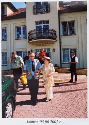 5.06.2002 r Hanka Bielicka z Tadeuszem Wałkuskim