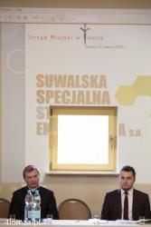 Urząd Miejski w Łomży zorganizował konferencję z biznesmenami, aby zachęcić ich do inwestycji w Suwalską Strefę Ekonomiczną.