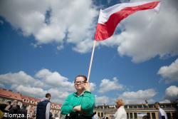 Stary Rynek w Łomży, Święto Flagi.