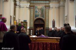 Wystawienie ciała ś.p. biskupa Tadeusza Zawistowskiego w kościółku seminaryjnym.