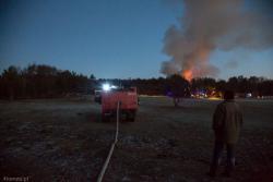 Pożar tuż przed sylwestrem drewnianych budynków gospodarstwa agroturystycznego w Sulinie pod Wizną.