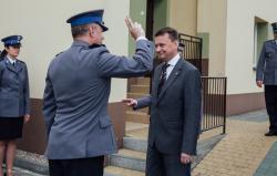 Minister spraw wewnętrznych i administracji Mariusz Błaszczak otworzył posterunek policji w Łysych.