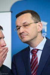 Wcepremier a obecnie premier Mateusz Morawiecki w Łomży.