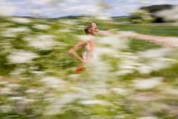 Półmaraton z butelką mleka w Piątnicy