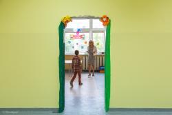 """""""Witamy w szkole"""". Początek pierwszego nowego roku szkolnego po reformie edukacji. N/z klasy jeszcze bez drzwi w SP1 wcześniej PG1."""