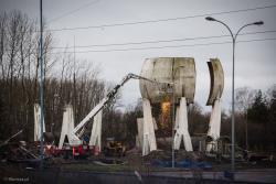 Kończy się pewna epoka, znikają zbiorniki na gaz w Gaspolu.