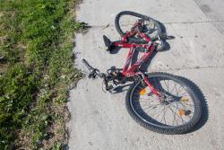 Rower po śmiertelnym potrąceniu rowerzystki.