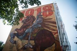 Mural Piłsudskiego.