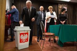 Wybór przewodniczącego Rady Miejskiej w Jedwabnem.