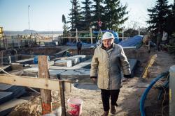 Teresa Steckiewicz 81-letnia założycielka i prezes Łomżyńskiego Towarzystwa Przyjaciół Chorych, które prowadzi od 25 lat Dom Opieki Hospicyjnej przy ul. Rybaki w Łomży.