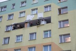 Wybuch butli z gazem w bloku na Moniuszki.